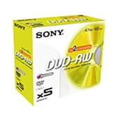 DVD+rw Sony regrabable 4,7 GB jewel case (10 uds.)