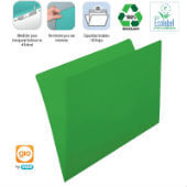 Subcarpeta A4 verde intenso 250grs (pack 50)