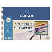 Bloc acuarela  Canson a4+  liso 370 gr 10 hojas