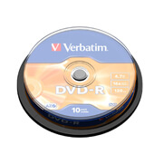 Bobina 10 DVD+r Verbatim 4.7GB advanced azo