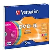 DVD-r Verbatim 4,7GB caja slim (pack 5)