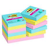 6 blocs POST-IT® Super Sticky Miami 76x76