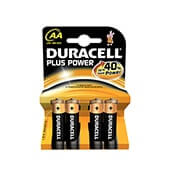 Blister 4 Pilas Alcalinas plus tipo LR6 Duracell