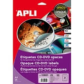 Etiquetas cd/dvd 117mm opacas 25h