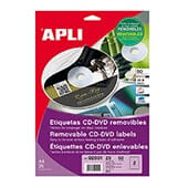 Etiquetas adhesivas cd-rom ø 114mm