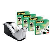 Pack ahorro Scotch® Magic 4 rollos+dispensador