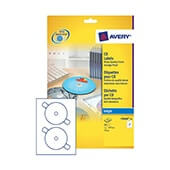 Etiquetas Avery inkjet CD glossy 117mm