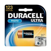Pila litio 3v CR123A Duracell
