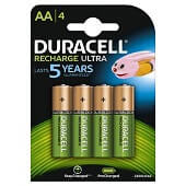 Pilas recargables Duracell AA HR6 (pack 4 uds.)
