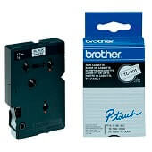 Cinta laminada Brother negro/blanco TC201