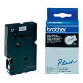 Cinta laminada Brother negro/blanco TC291