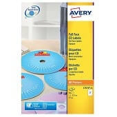 Paquete etiquetas Avery láser CD 117mm
