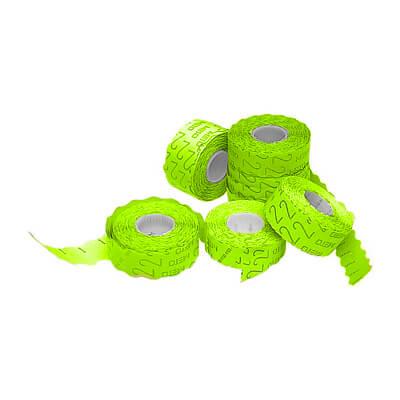 Rollo etiquetas 22x12 amarillo fluorescente