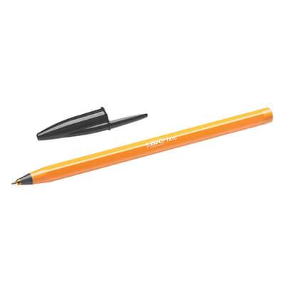 Bolígrafo Bic naranja punta fina negra