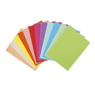 Paquete papel A4 80gr 5 colores surtidos 100h