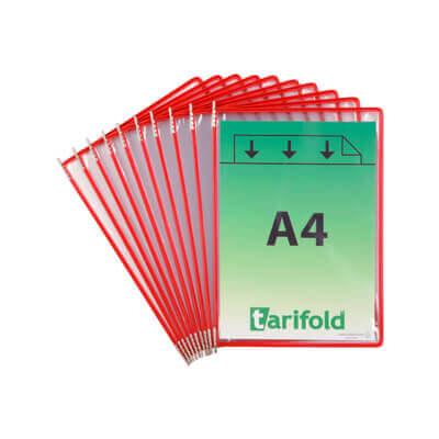Paquete 10 fundas clasificador Tarifold rojas