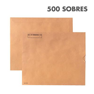 Caja 500 sobres expediente siniestros