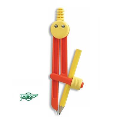 Compás escolar Faibo con adaptador + lápiz grafito