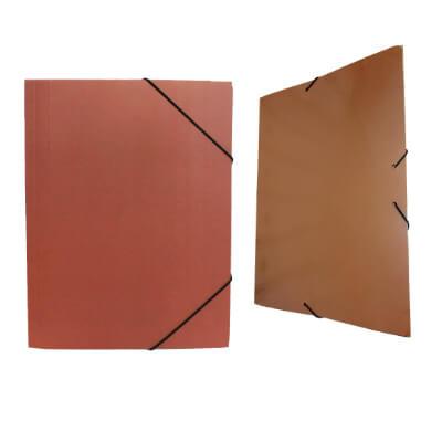 Carpeta cartón gomas folio sin bolsa azul