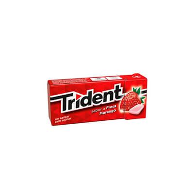 Chicles Trident Frescor Plus sabor a fresa