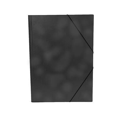Carpeta cartón gofrada Folio negro