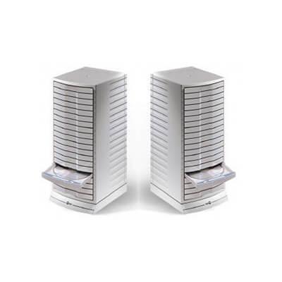 Torre Archivo CD gris con caja /puerta