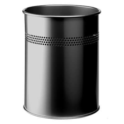 Papelera metálica negra 31.5x26