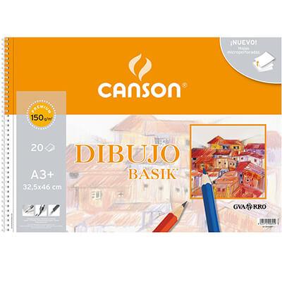 Bloc de dibujo Canson A3 liso 150 gr 20 hojas
