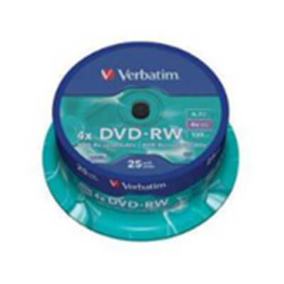 Verbatim DVD+rw 4,7GB 4x spindle 25 advanced serl
