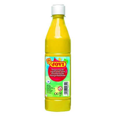 Témpera líquida Jovi botella 500ml amarilla