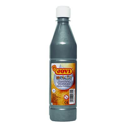Témpera líquida Jovi botella 500ml plata metal