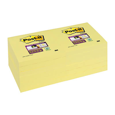 12 blocs POST-IT® Super Sticky 76x76