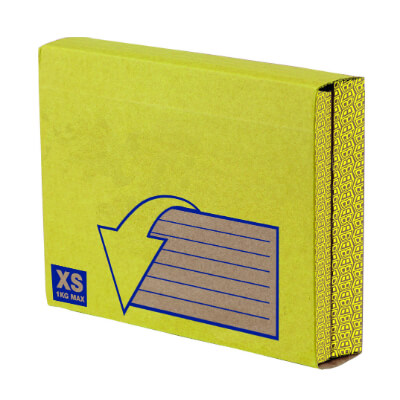 Caja extensible pequeña (XS) 55x235x160mm(pack 10)