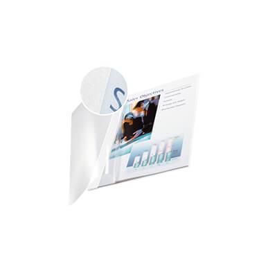Pack 10 tapas Channel flexible transp.7mm blanco
