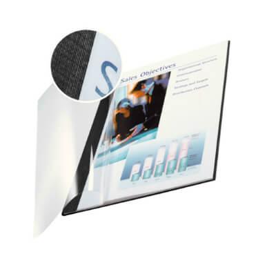 Pack 10 tapas Channel flexible transp.7mm negro