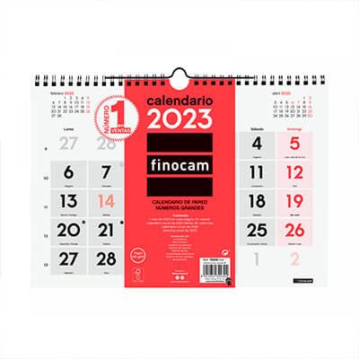 Calendario pared cast números grandes 300x210mm