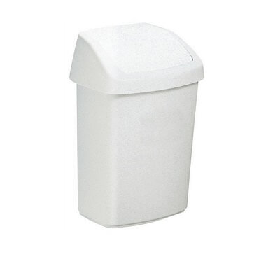 Papelera basculante 50 litros blanca