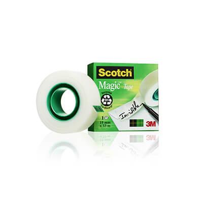 Cinta adhesiva Scotch® Magic 12mm x 33m