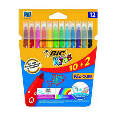 Caja rotuladores Bic kid couleur 10 + 2