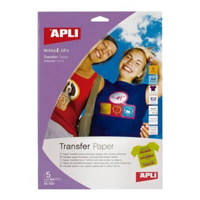 Blister papel transfer A4 prendas oscuras