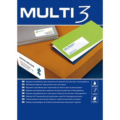 Caja etiquetas Multi3 210x297 500h