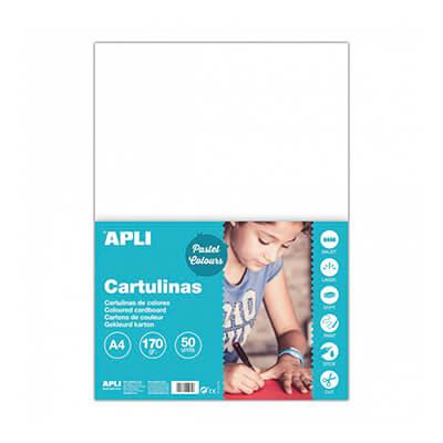 Pack 50 cartulinas A4 170gr blanco