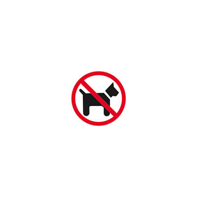 Placa adhesiva pvc no perros