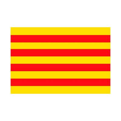 Bandera de Cataluña de 210X140cm