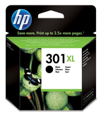 Cartucho de tinta original HP 301xl negro