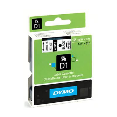 Cinta Dymo 2000 12mm negro sobre transparente