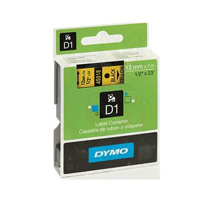 Cinta Dymo 2000 12mm negro sobre amarillo