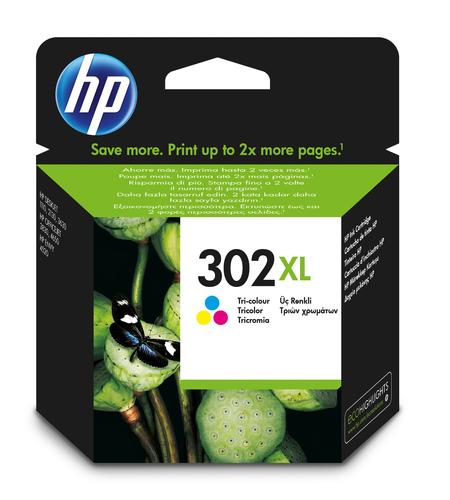 Cartucho de tinta original HP 302xl tricolor