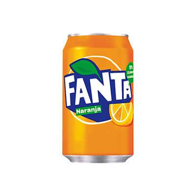 Lata de Fanta de naranja de 33cl (pack 24)