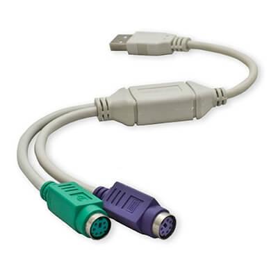 Cable para portátil adaptador usb/ps